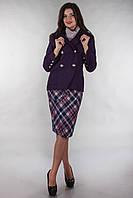 Жакет AL 14025; цвета: лиловый,  состав:шерсть 30%, акрил 35%, вискоза 35%