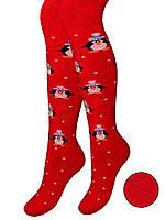 Детские махровые колготки (Красный)