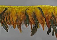 Перо-юбка желтая с черными хвостиками 15-20см/45-47см