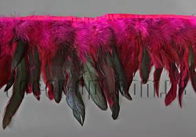 Перо-малинова спідниця з чорними хвостиками 15-20см/45-47см