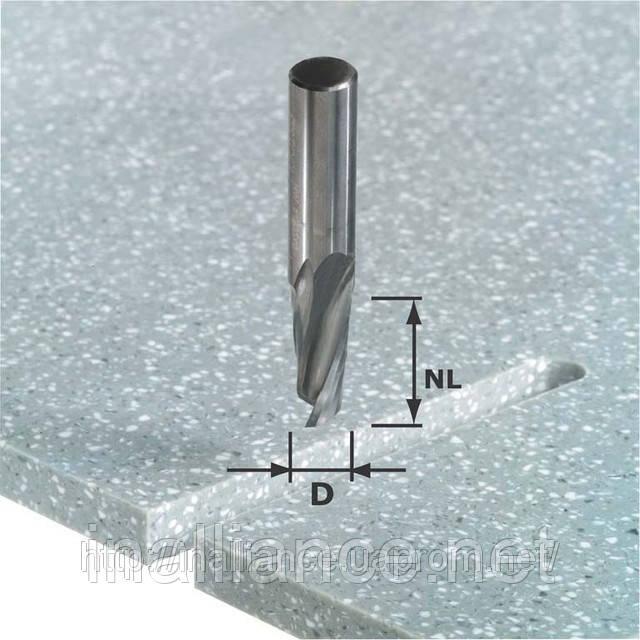 Спиральная пазовая фреза HW с хвостовиком 12 мм HW Spi D12/42 RD ss S12 Festool 492655