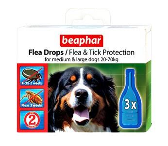 Beaphar (Беафар) Капли против блох и клещей для собак средних и крупных пород 3шт - Интернет-магазин «ПараЛапок» в Днепре