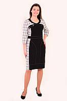 Платье женское,в спортивном стиле , одежда для полной молодежи ,ботал ,48,50,52,54,56, хлопок 50%, пл 142-1.