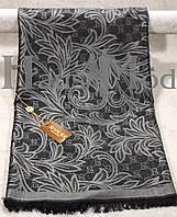 Палантин брендовый  Cucci 9666 Черный + серый
