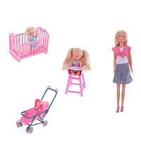SIMBA Кукольный набор Штеффи с детьми и аксессуарами