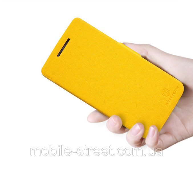 Чехол на Lenovo S960 Vibe X, книжка боковой Nillkin Fresh Series Желтый - Интернет-магазин Mobile-Street в Бердянске