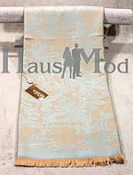 Палантин брендовый  Cucci 9666 Коричневый+голубой