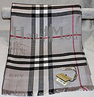 Палантин брендовый  Burberry 8890 Серый