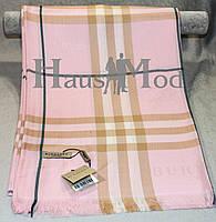 Палантин брендовый  Burberry 8890 нежно - розовый