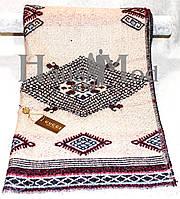 Палантин брендовый  Cucci 3595 Абстрактный принт белый