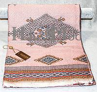 Палантин брендовый  Cucci 3595 Абстрактный принт нежно-розовый