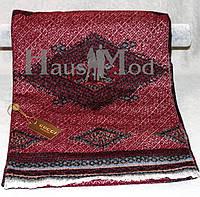 Палантин брендовый  Cucci 3595 Абстрактный принт бордо