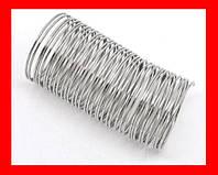 Проволока с эффектом памяти для колец, цвет серебряный, 0,8 мм, диаметр 24 мм