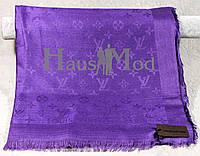Палантин брендовый  Louis Vuitton LV фиолетовый