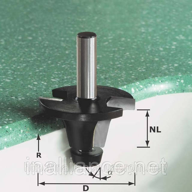 Фреза для снятия фасок со скругляющей кромкой HW с хвостовиком 12 мм HW R12,7 /25/ 6°SS S12 Festool 492677