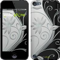 """Чехол на iPod Touch 6 Цветы на чёрно-белом фоне """"840c-387"""""""
