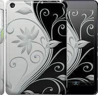 """Чехол на iPad mini 3 Цветы на чёрно-белом фоне """"840c-54"""""""