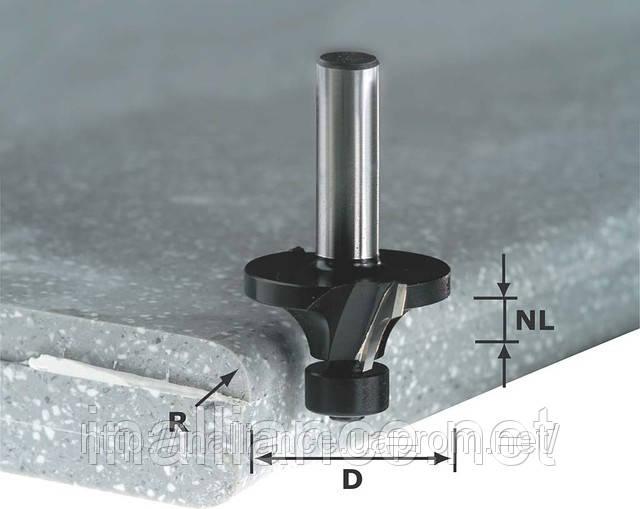 Фреза скругляюча з опорним підшипником HW R 6,35/D28,8SS S12 Festool 492683