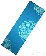Коврик для йоги LiveUp PVC Yoga Mat with print, голубой