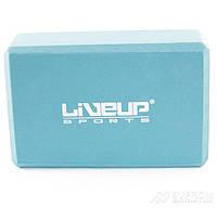 Блок для йоги LiveUp EVA Brick, голубой