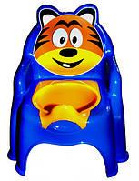 Синее кресло-горшок для мальчика Тигр