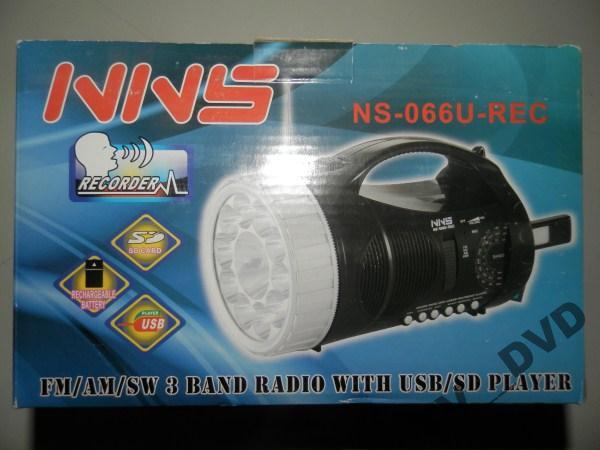 Ліхтар акумуляторний USB РАДІО ЗАПИС 066U