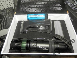 Фонарик аккумуляторный BAILONG POLICE BL-8455 30000W