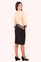 Платье женское , нарядное с кружевом , 48,50,52,54, Пл 143-1 , коктейльное платье ,вечернее , по колено.
