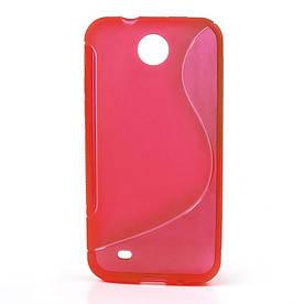 Чехол силиконовый S формы на HTC Desire 300 Zara Mini Красный