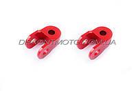 Удлинители амортизатора (пара) 3см, Ø10мм RIDE IT (красные)