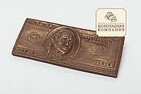 """Шоколадная купюра """"100 долларов"""". Креативный презент папе"""