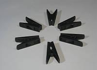 Пластмассовые прищепки 55мм чёрные для сушки белья