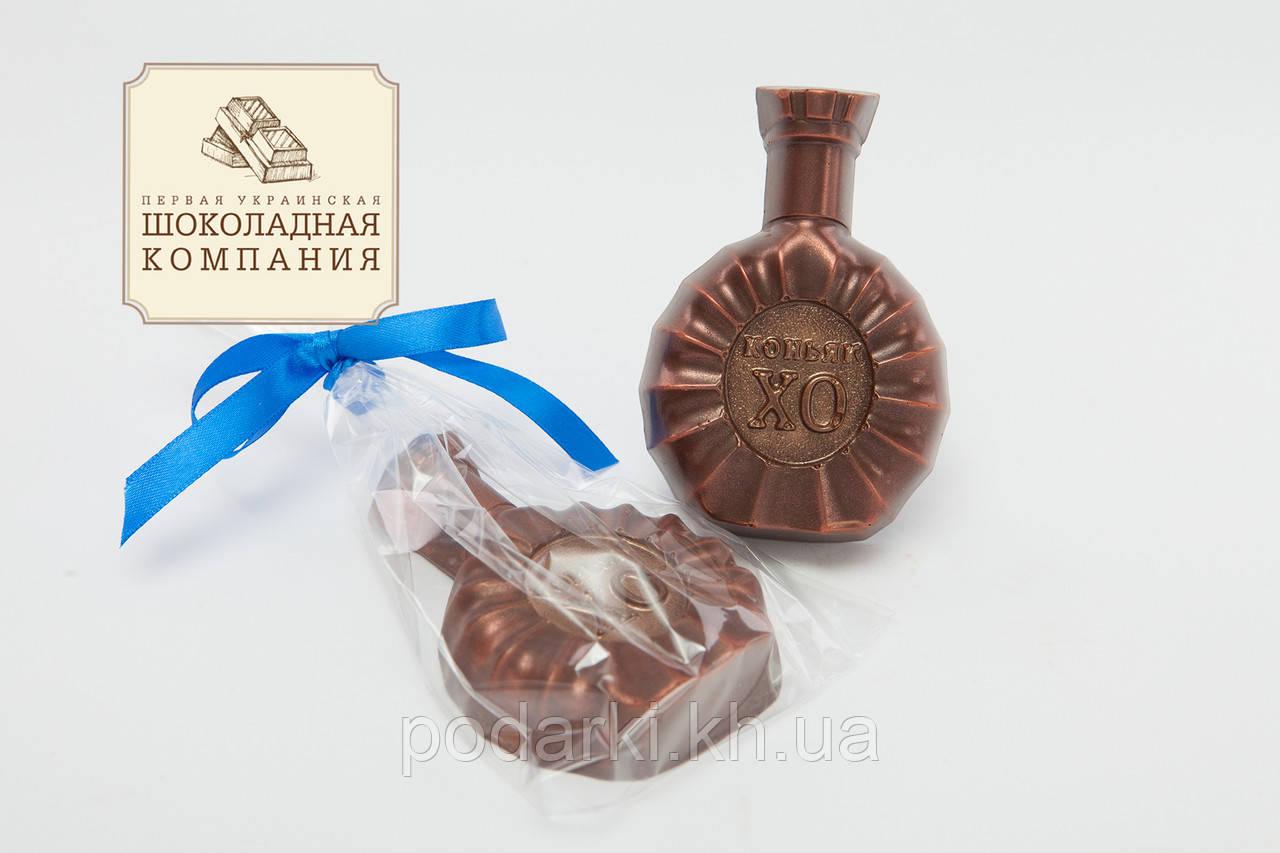 Шоколадная бутылка коньяк ХО. Презент мужу.