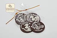 """Шоколадный медальон """"С 23 февраля"""".  Шоколадные медальоны для папы"""