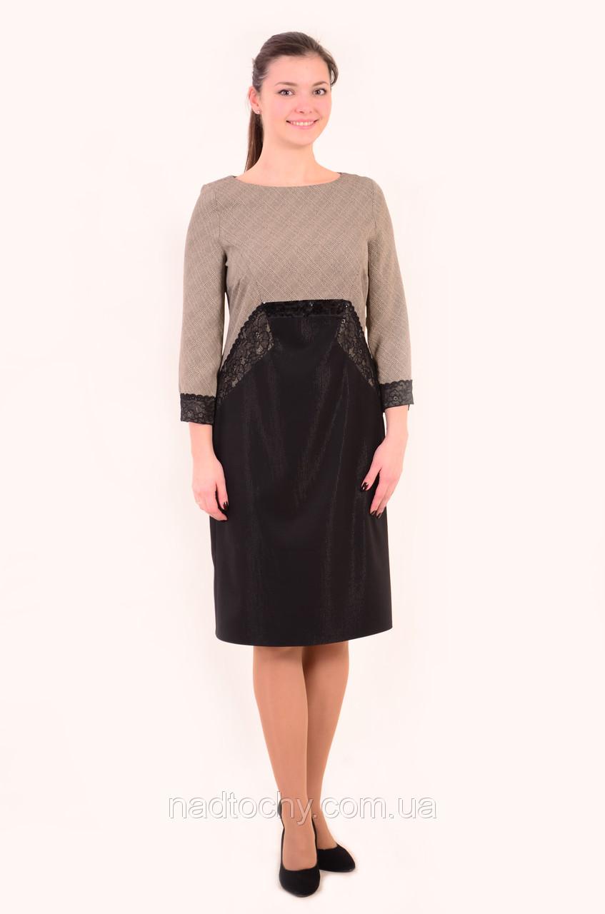 Платье женское , нарядное с кружевом , 48,50,52,54, Пл 143-3 , коктейльное платье ,вечернее ,по колено .