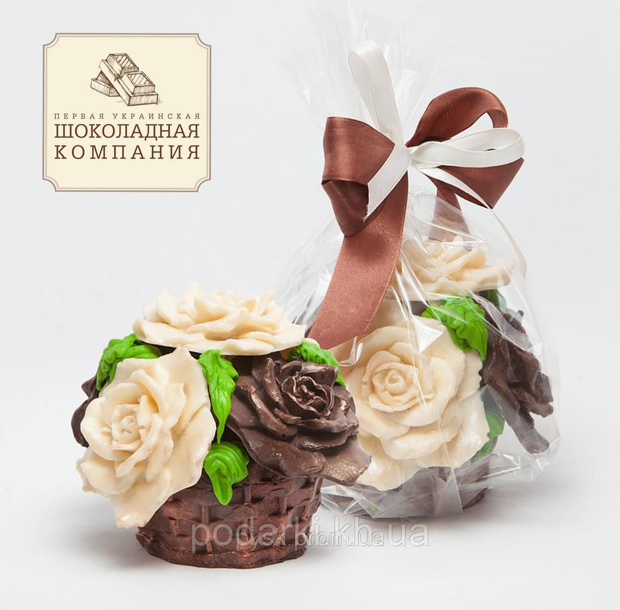 Букет из шоколада для жены на День влюбленных. Шоколадный подарок от мужа.