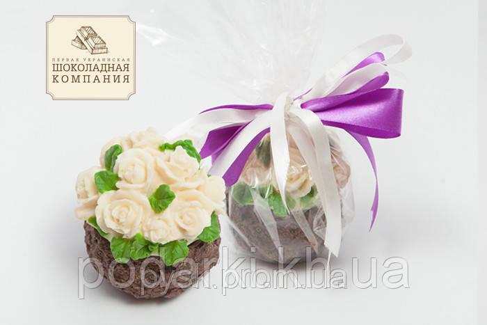 Шоколадный букет роз. Корзина шоколадная. Подарочные шоколадные корзины женщинам.