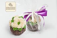 Шоколадная корзинка роз. Поздравительный шоколад для девушки.