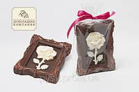 Шоколадная роза барельеф. Изумительный подарок любимой девушке.