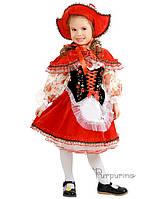 Детский костюм для девочки Красная Шапочка в розах