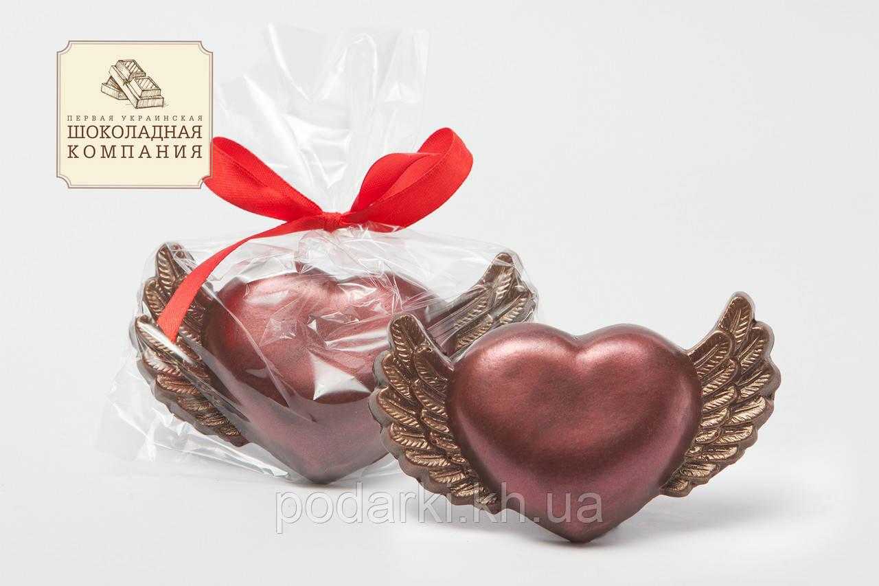 Шоколадное сердце с крыльями мамочке