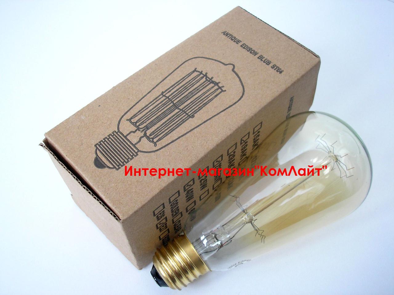 Лампа Эдисона 40Вт Е27 230В
