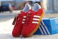 Мужские кроссовки Adidas Gazelle Indoor красные /  кроссовки  мужские Адидас Газел Индор, демисезон