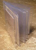 Обложка для документов водителя (с файлом под доверенность), прозрачный ПВХ, фото 1