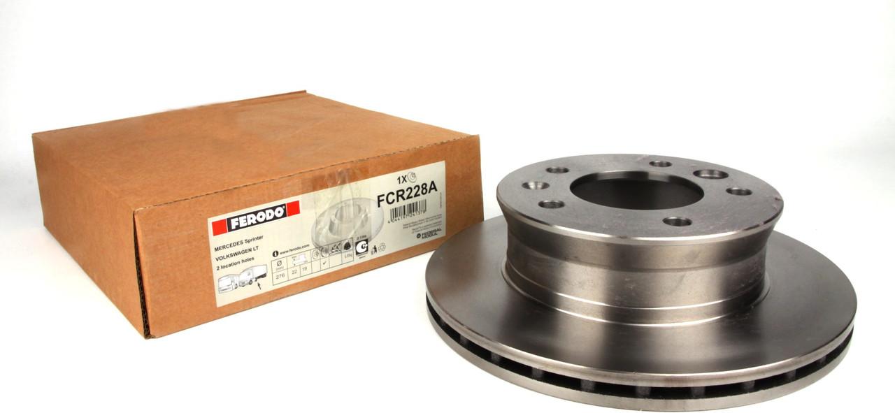 Диск тормозной передний MB Sprinter 208-416 96- (276x22) Ferodo