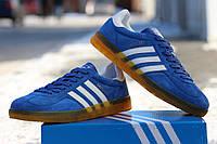 Мужские кроссовки Adidas Gazelle Indoor голубые /  кроссовки  мужские Адидас Газел Индор, демисезон