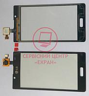 LG  P705 Optimus L7 тачскрін сенсор чорний оригінальний