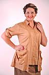 Блуза женская  хлопок, ботал, 48,50,52,54, короткий рукав, ( БЛ 034) ., фото 2