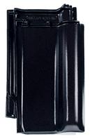 Керамическая черепица Braas Рубин 13V бриллиантово черный.
