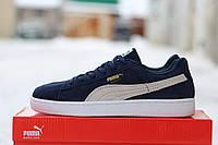 Женские кроссовки Puma Suede /  кроссовки  женские Пума Свейд, демисезон, темно-синие, высокое качество